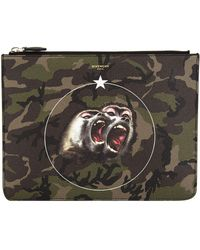 Givenchy - Monkey Brothers Canvas Pouch, White, One Size - Lyst