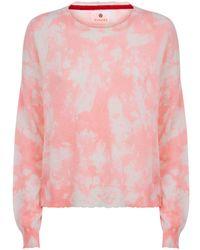 Sundry - Tie Dye Crop Sweater - Lyst
