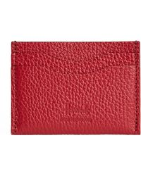 Harrods Leather Card Holder - Red