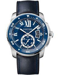 Cartier - Stainless Steel Calibre De Diver Watch 42mm - Lyst