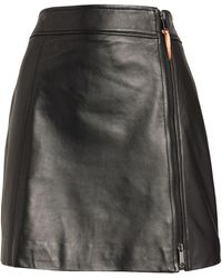 MAX&Co. Leather Mini Skirt - Black