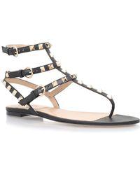 Valentino - Rockstud Leather Gladiator Sandal - Lyst