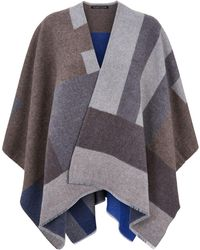 Eileen Fisher - Colour Block Poncho - Lyst