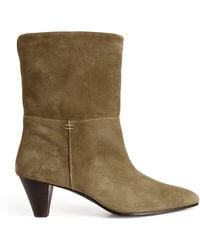 Claudie Pierlot Suede Ankle Boots - Green