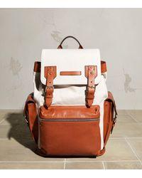 Brunello Cucinelli Canvas-leather Backpack - Multicolor