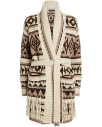 Polo Ralph Lauren Fringe-trim Cardigan - Brown