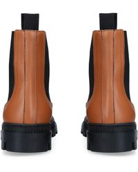 Loewe Leather Chelsea Boots - Natural