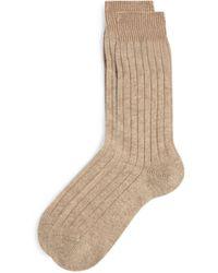 Pantherella Cashmere-blend Socks - Natural