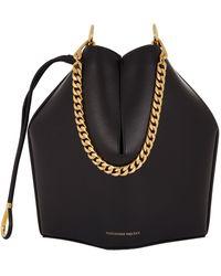 Alexander McQueen Leather Bucket Bag - Black