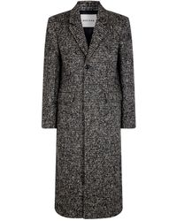 Rochas Check Wool-blend Overcoat - Black
