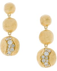 Marco Bicego - Africa Gold Wave Drop Earrings - Lyst