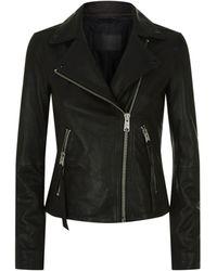 AllSaints Dalby Leather Biker Jacket - Black