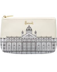 Harrods Illustrated Building Purse - White