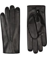 Harrods - Rabbit Fur-lined Leather Gloves - Lyst