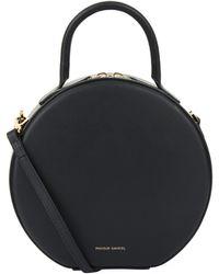 Mansur Gavriel Leather Circle Cross Body Bag - Black