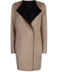 Akris Talia Reversible Cashmere Coat - Black