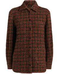 Kiton Boucle Weave Jacket - Red