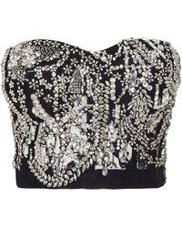 Alexander McQueen Crystal-embellished Chandelier Bustier - Black