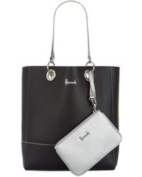 Harrods Reversible Fern Tote Bag - Negro