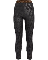 Fendi Fun Fur Print Leggings - Black