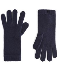Harrods Cashmere Gloves - Blue