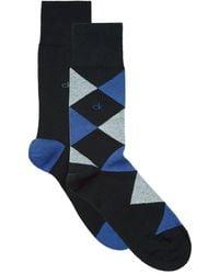 Calvin Klein - Assorted Argyle Solid Socks (pack Of 2) - Lyst