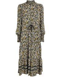 ME+EM Floral Midi Dress - Multicolour