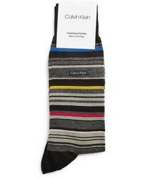Balmain Barcode Stripe Socks - Black