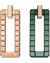 Chopard - Rihanna Loves Rose Gold And Ceramic Ice Cube Earrings - Lyst