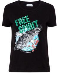 Claudie Pierlot - Free Spirit Print T-shirt - Lyst