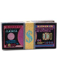Judith Leiber Stack Of Cash Funny Money Clutch Bag - Multicolour