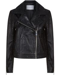 Claudie Pierlot - Studded Leather Biker Jacket - Lyst