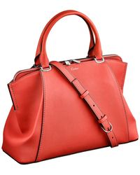 Cartier | Small C De Leather Tote Bag | Lyst