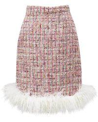 Huishan Zhang Malin Feather-trim Skirt - Pink