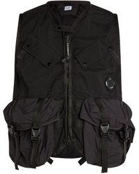 C.P. Company Utility Vest - Black