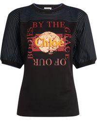 Chloé Citrus Printed T Shirt - Black