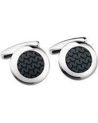 Chopard Stainless Steel L.u.c Cufflinks - Black