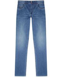 Stefano Ricci Slim Logo Jeans - Blue