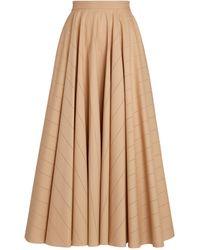 Alaïa Cotton-poplin Midi Skirt - Grey