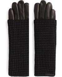 AllSaints Leather Gloves - Black