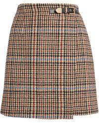 Sandro Tweed Mini Skirt - Natural