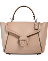 COACH Leather Courier Carryall Bag - Natural