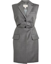 Matériel Wool Sleeveless Tailored Jacket - Grey