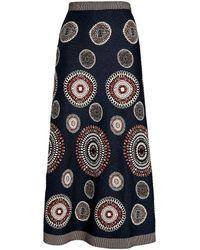 Alaïa Embroidered Molukai Circle Skirt - Blue
