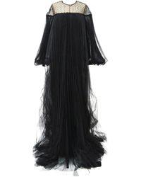 Huishan Zhang Ilaria Tulle Gown - Black