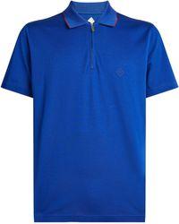 Pal Zileri Cotton Polo Shirt - Blue