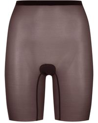 Wolford Sheer Touch Control Shorts - Black