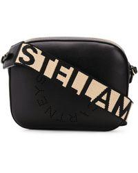 Stella McCartney Mini Logo Cross-body Bag - Black