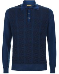Zilli - Diamond Weave Polo Shirt - Lyst