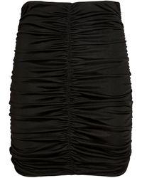 Isabel Marant Gathered Doroka Mini Skirt - Black